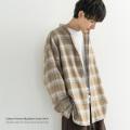 【RD.Ghost/アールディ.ゴースト】コットンフランネルビッグバンドカラーシャツ◆9015