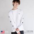 【modem design/モデムデザイン】日本製/国産 L/S Tee FUN  USA Cotton◆9059