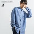 KANGOL×Rocky Monroe別注  オーバーサイズバンドカラーシャツ◆9079