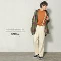 【送料無料】【KAFIKA/カフィカ】 日本製/国産French Worker Serge Suspender Pants◆9110