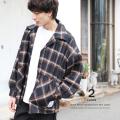 【Ressaca/レサーカ】チェックビッグシャツJKT◆9163