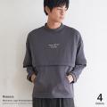 【Ressaca/レサーカ】モックネックロゴスウェット◆9166