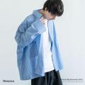 【Ressaca/レサーカ】ストライプ・チェックビッグシャツ◆9172