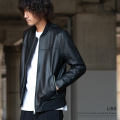【送料無料】【LiSS/リス】leather switch rib blouson◆9185