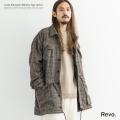 【送料無料】【Revo./レヴォ】ルーズシルエットミリタリータイプジャケット◆9218