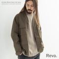 【送料無料】【Revo./レヴォ】ノーカラーミリタリージャケット◆9277
