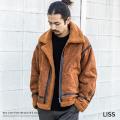 【送料無料】【LISS/リス】Fake Mouton B-3フライトジャケット◆9383