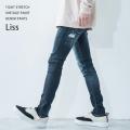 【送料無料】【LiSS/リス】stretch tight denim pants◆9446