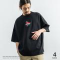 ポンチバラ刺繍BIG Tシャツ◆9528