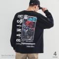 バック薔薇 BIG L/S Tシャツ◆9664