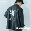 【Banksy】【BRANDALISED】 FLOWER BOMBER コーチジャケット◆9837