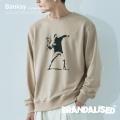 【Banksy】【BRANDALISED】FLOWER BOMBER スウェット◆9838