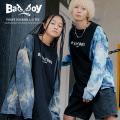 【BAD BOY/バッドボーイ】タイダイ切替ロンT◆9855