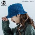 【NEWHATTAN/ニューハッタン】 Bucket Hat -denim-◆9996