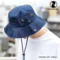 【NEWHATTAN/ニューハッタン】Safari Hat -twill-◆9997