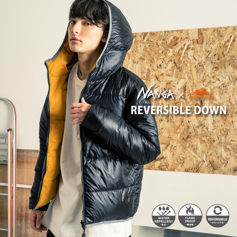 【送料無料】【NANGA】×【KRIFF MAYER】 日本製/国産 リバーシブルダウンジャケット/NA2021◆11189