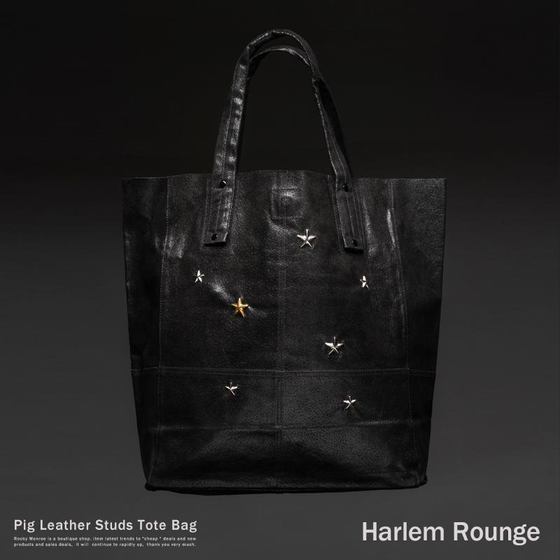 【送料無料】【Harlem Rounge】本革ピッグレザークラックトートバッグ◆2050