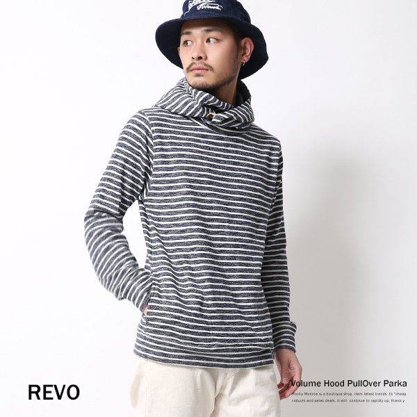 【Revo.】ボリュームネック長袖プルオーバーパーカー◆3829