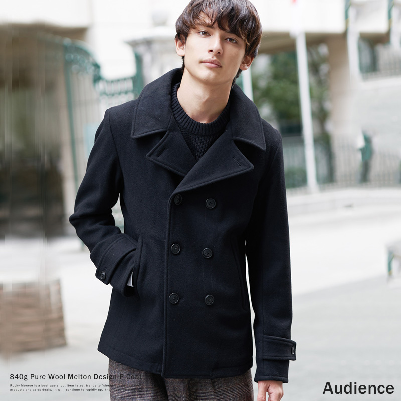【送料無料】【Audience/オーディエンス】840gピュアウールメルトンPコート/AO2018◆4676