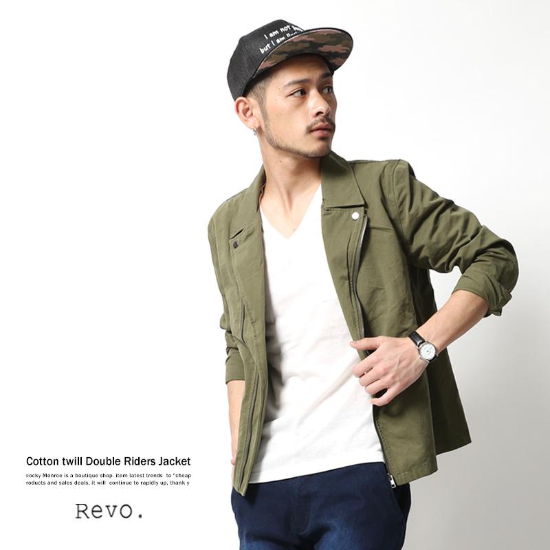 【Revo./レヴォ】コットンツイルライダースジャケット◆5790