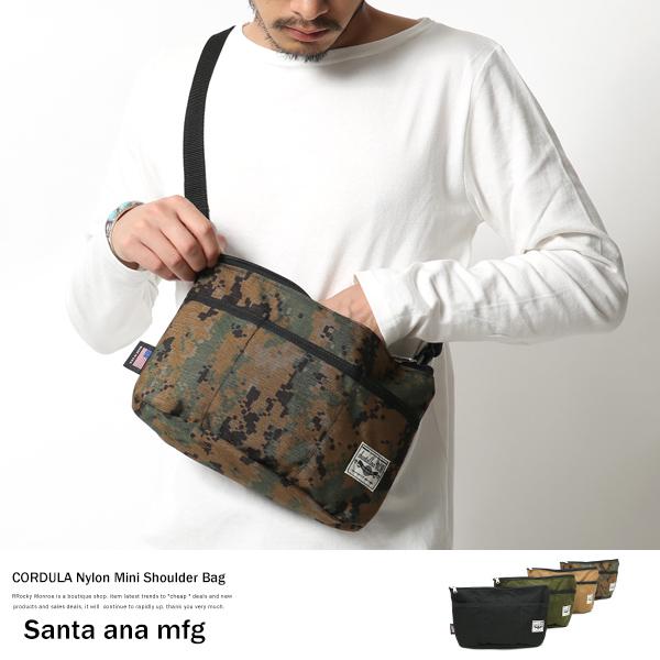【Santa ana mfg】アメリカ製コーデュラナイロンミニショルダーバッグ◆6168