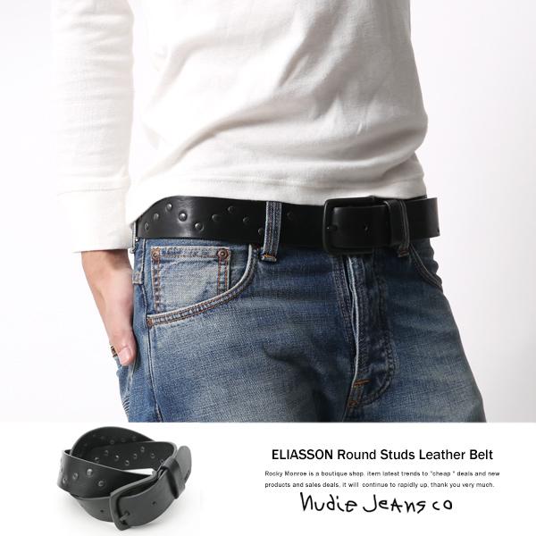 【Nudie Jeans/ヌーディージーンズ】ELIASSONスタッズベルト◆6302