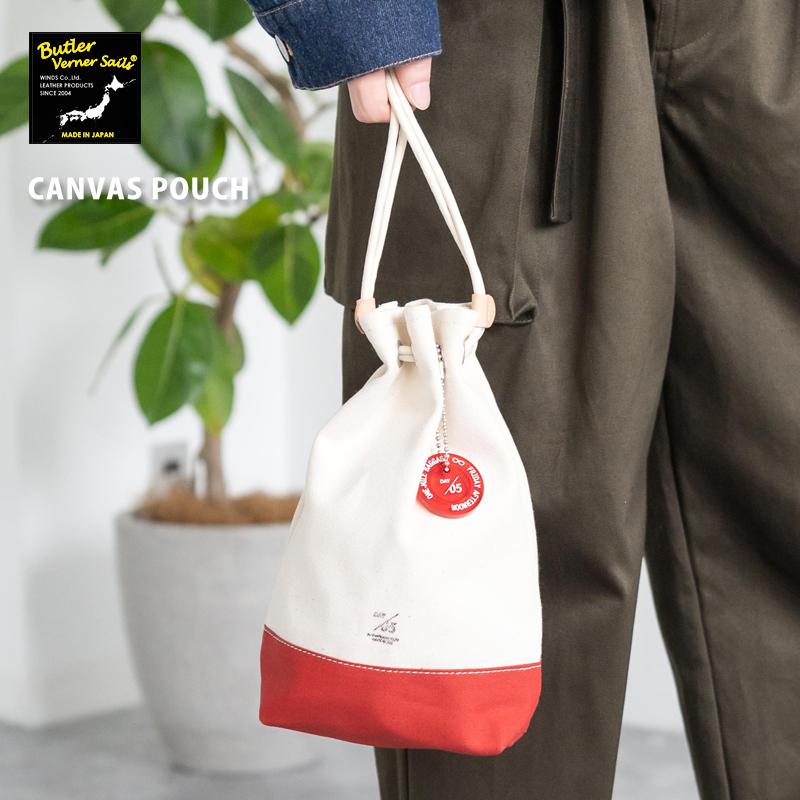 【Butler Verner Sails】日本製/国産キャンバス巾着トートバッグ◆6500