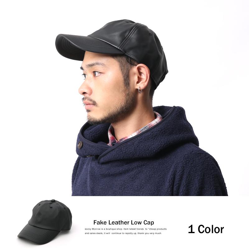 フェイクレザーローキャップ◆6560