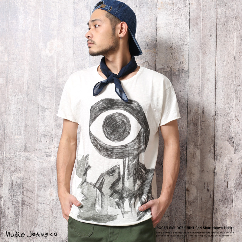 【Nudie Jeans/ヌーディージーンズ】ROGERプリントTシャツ◆6711
