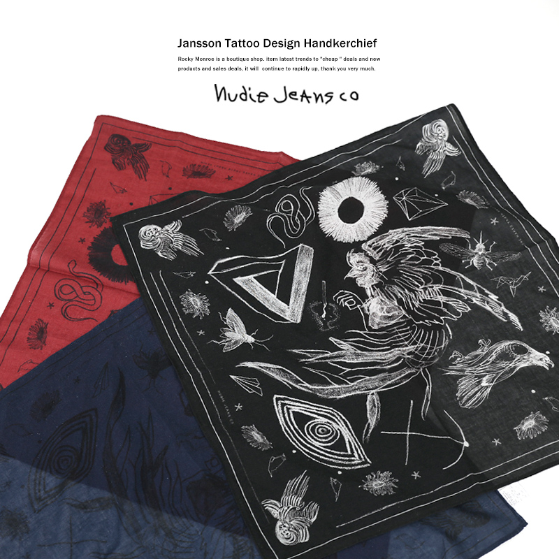 【Nudie Jeans/ヌーディージーンズ】JANSSON TATTOOバンダナ◆6715