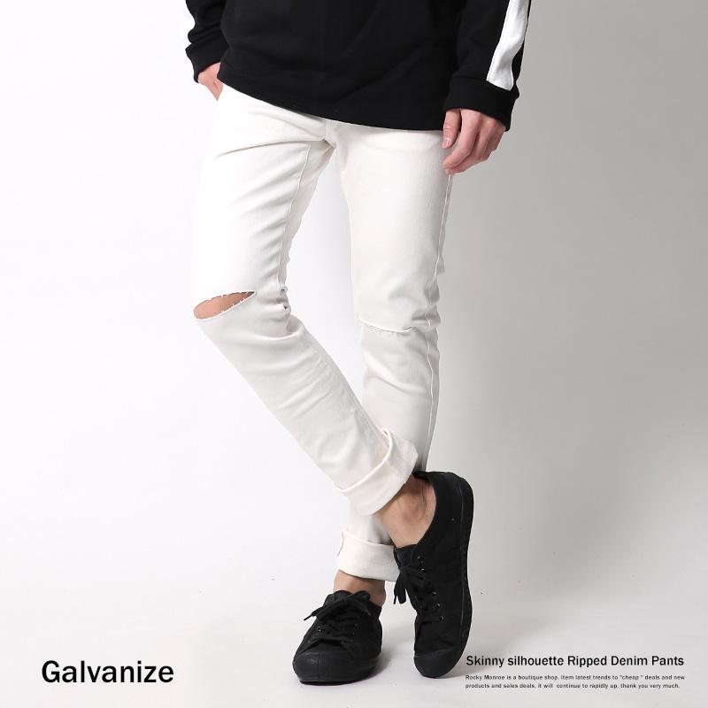 【Galvanize/ガルバナイズ】ダメージスキニージーンズ◆6835