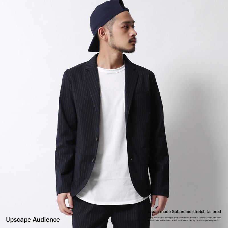 【Upscape Audience/アップスケープオーディエンス】日本製/国産ギャバジンストレッチテーラードジャケット◆6994