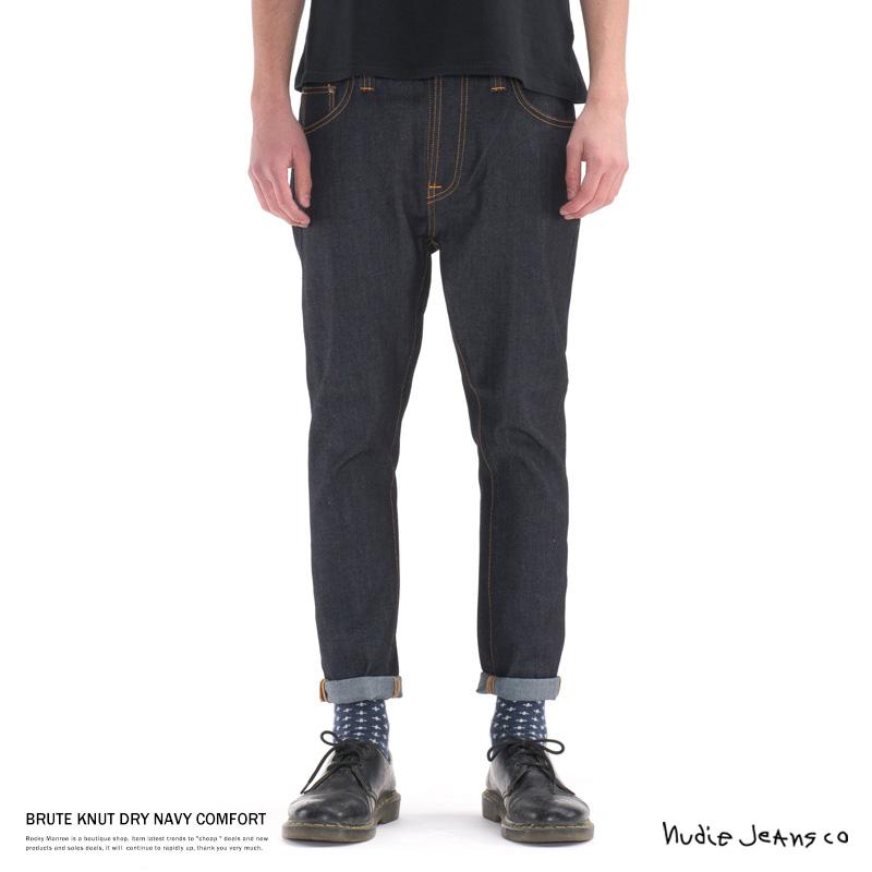 【Nudie Jeans/ヌーディージーンズ】BRUTE KNUT DRY NAVY COMFORT◆7064