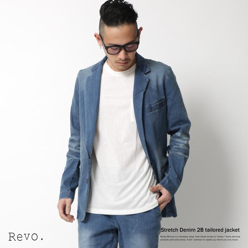 【Revo./レヴォ】ストレッチデニムテーラードジャケット◆7147