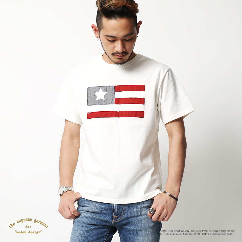 【SALE】【modem design/モデムデザイン】星条旗Tシャツ◆7225