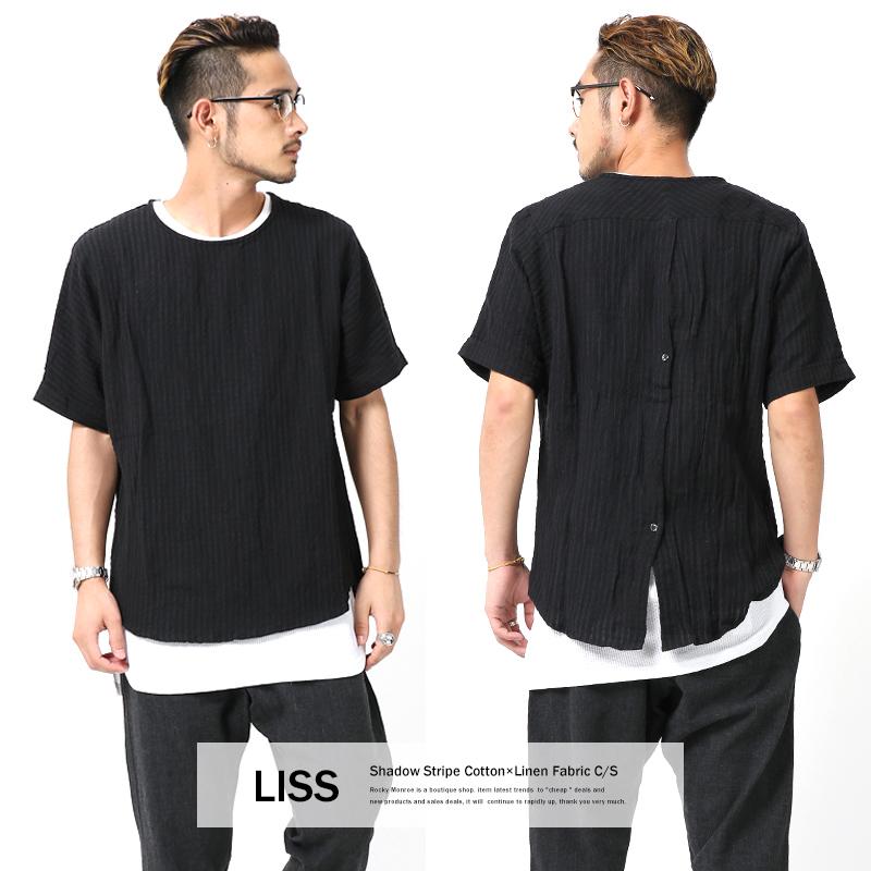 【SALE】【LISS/リス】コットンリネンシャドーストライプ半袖カットソー◆7299