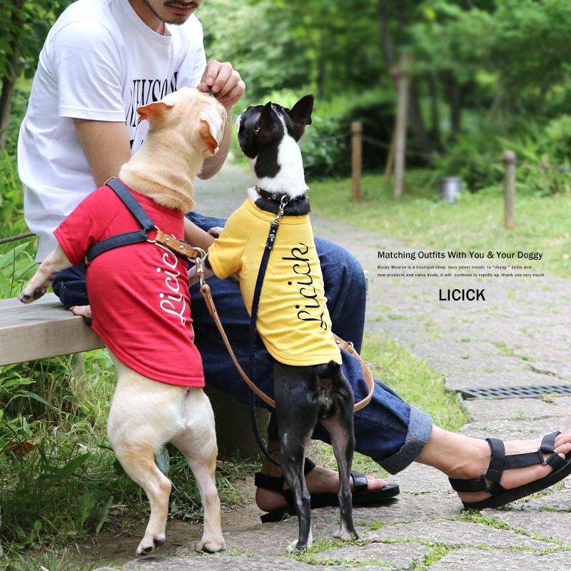【LICICK/リシック】犬用プリントTシャツ◆7363