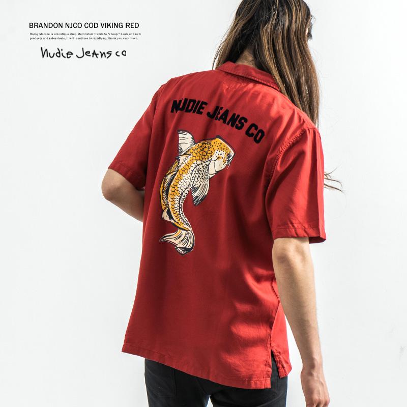【Nudie Jeans/ヌーディージーンズ】BRANDON NJCO COD S/S SHIRT◆7559