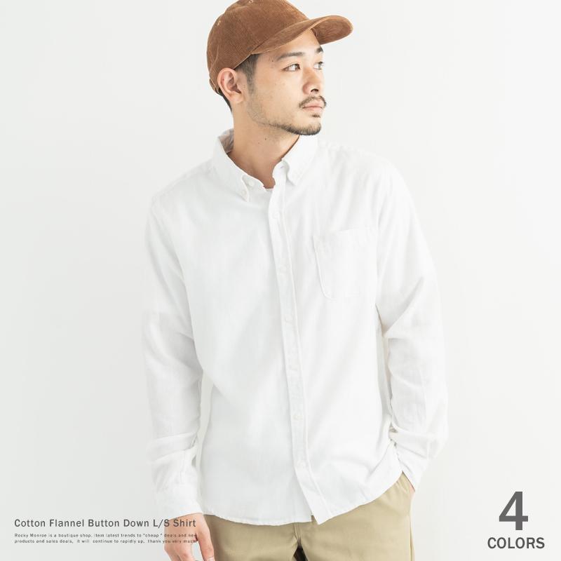 【RD.Ghost/アールディ.ゴースト】コットンフランネルボタンダウン長袖シャツ◆7614