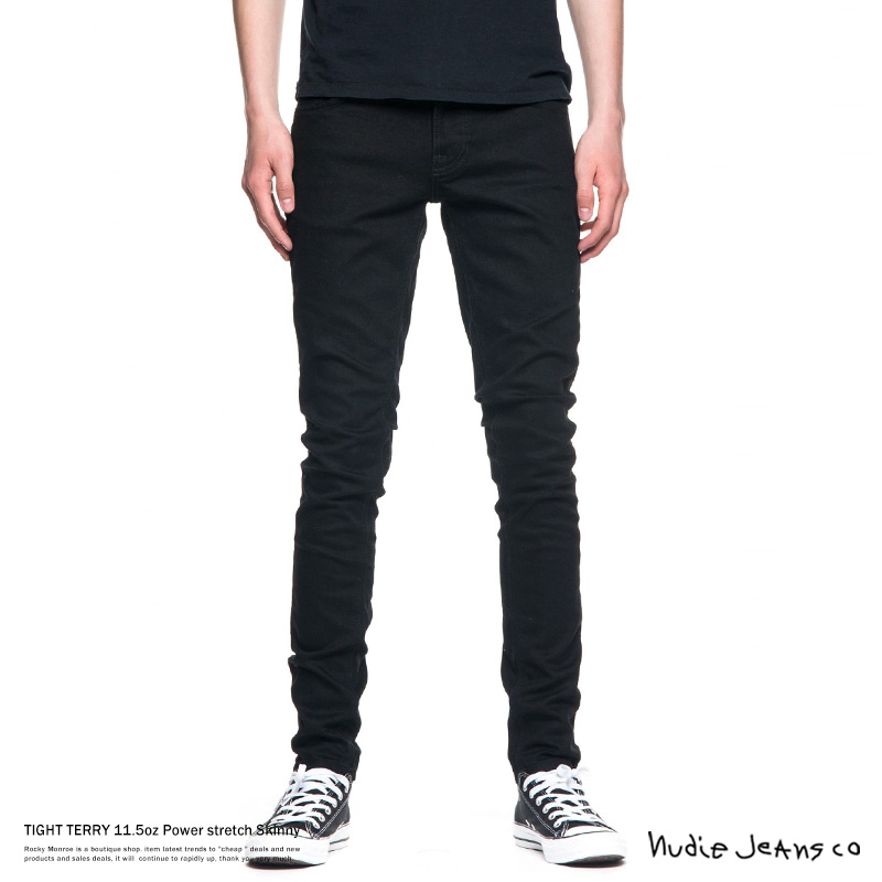 【Nudie Jeans/ヌーディージーンズ】TIGHT TERRY DEEP BLACK◆7714