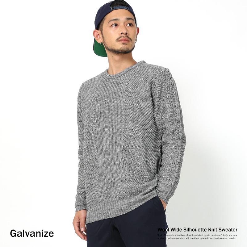 【SALE】【Galvanize/ガルバナイズ】ウール混ワイドシルエットニット◆7741