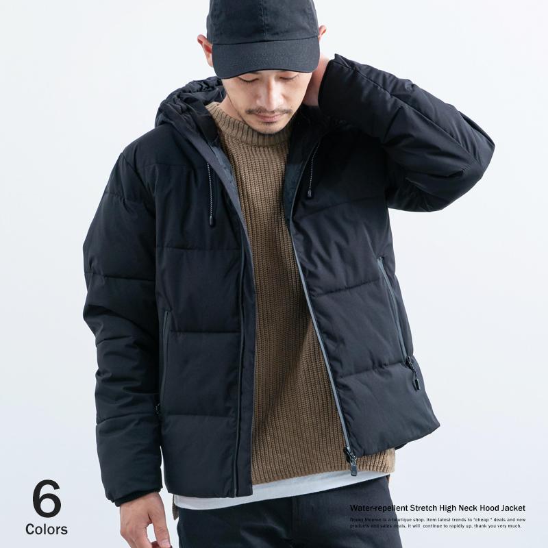 ストレッチ中綿フードジャケット◆7848