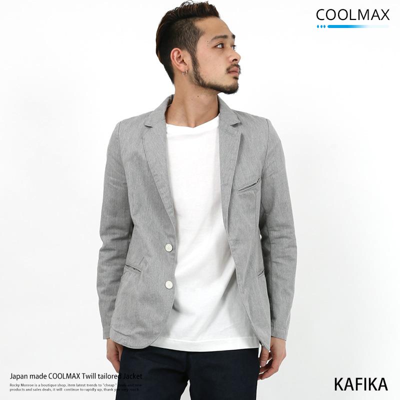 【KAFIKA/カフィカ】日本製COOLMAXツイルテーラードジャケット◆7974