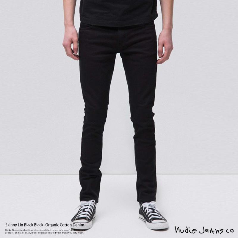 【送料無料】【Nudie Jeans/ヌーディージーンズ】Skinny Lin Black Black◆7991