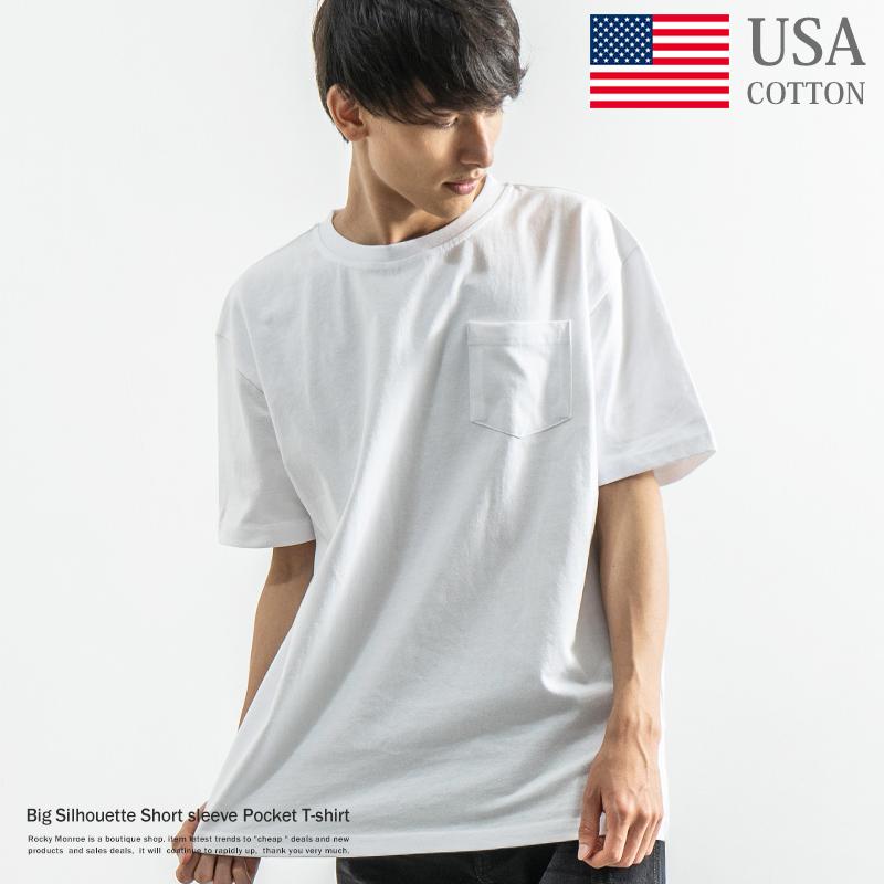 USAコットンビッグシルエットポケットTシャツ【ゆうパケット送料無料】◆8800