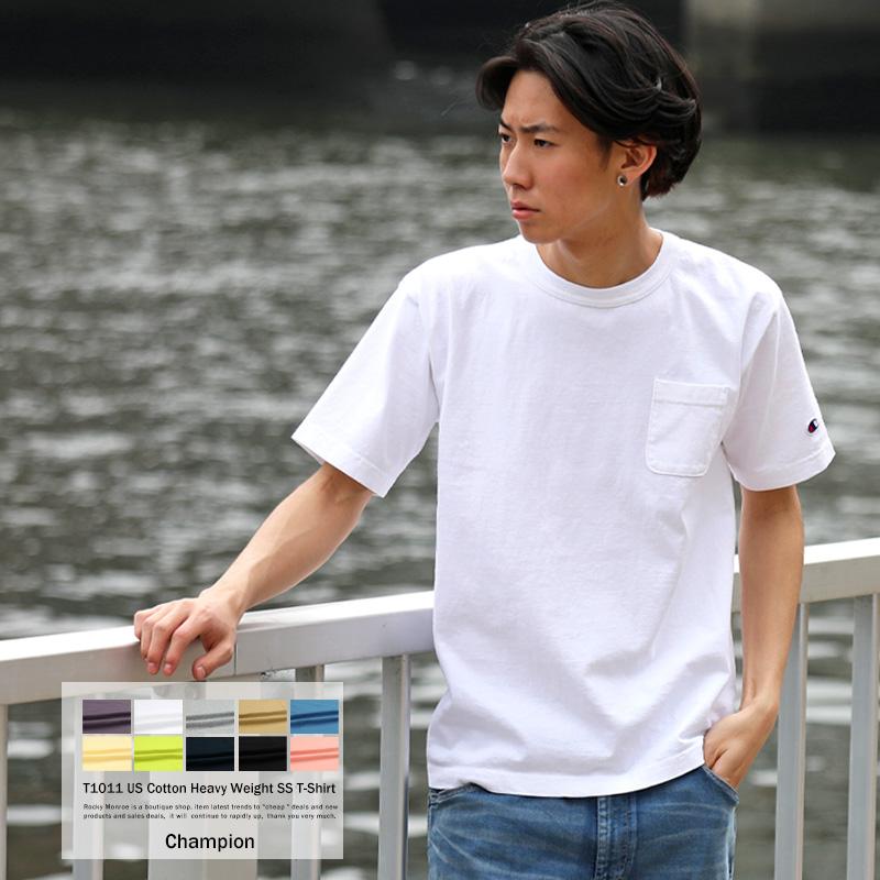 【Champion/チャンピオン】MADE IN USA T1011(ティーテンイレブン) 米綿半袖ポケットTシャツ◆8887