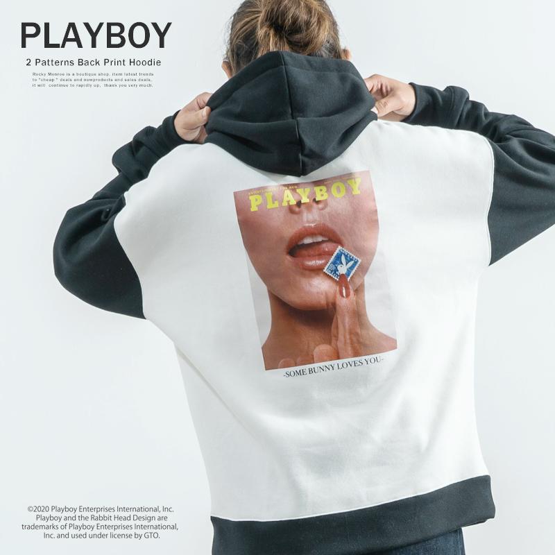 【PLAYBOY】×【RD.Ghost】 別注プルオーバーパーカー◆9049