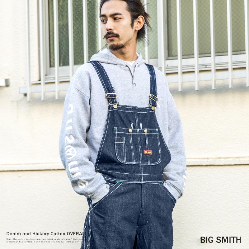 【送料無料】【BIG SMITH / ビッグスミス】デニム・ヒッコリーオーバーオール◆9068
