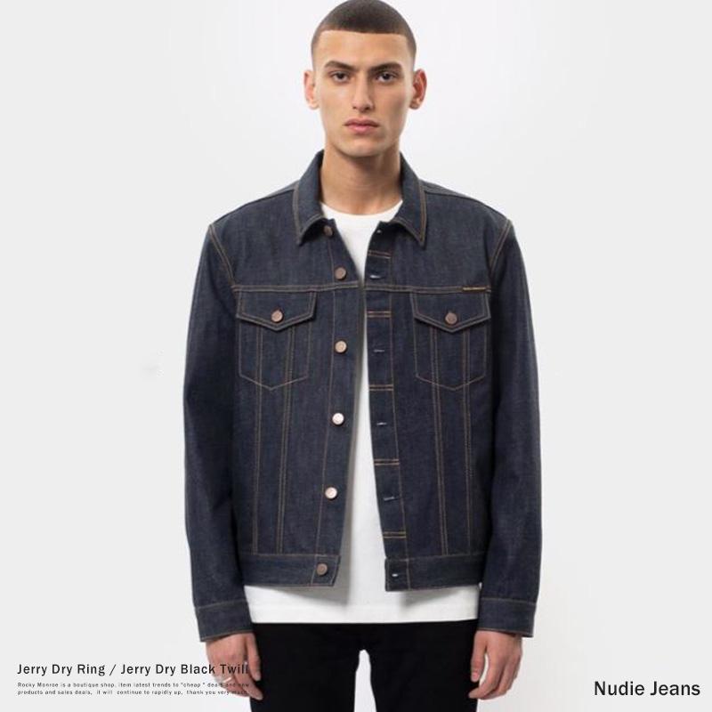 【送料無料】【Nudie Jeans/ヌーディージーンズ】 Jerry Dry Ring NB26 INDIGO DENIM・Jerry Dry Black Twill NB26 BLACK DENIM◆9082