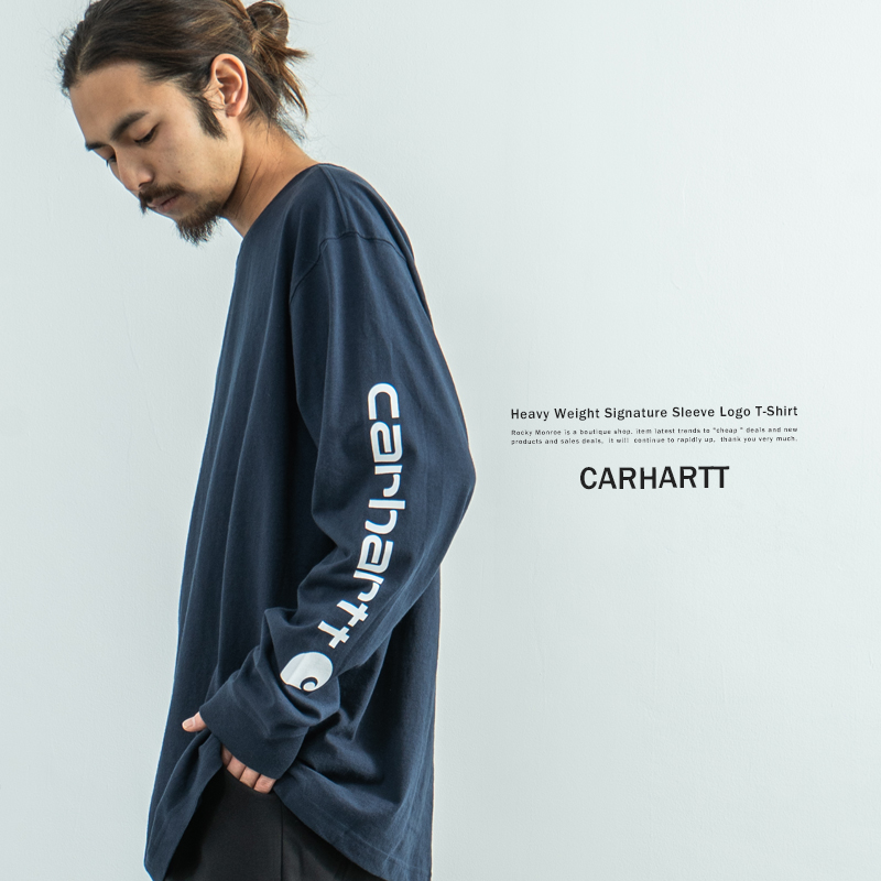 【送料無料】【CARHARTT/カーハート】 M Signature Sleeve Logo LS T Shirt◆9140